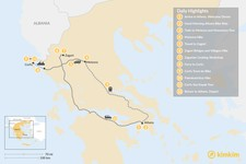 Map thumbnail of Adventurous Athens, Central Greece, and Corfu - 12 Days