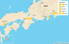Map thumbnail of Explore the Golden Route of Japan - 12 Days