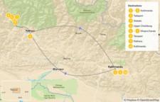 Map thumbnail of Khopra Danda Trek: Pokhara, Tadapani, Dobato & Khopra Danda - 11 Days