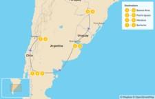 Map thumbnail of Buenos Aires, Iguazú Falls, Mendoza, & Bariloche - 10 Days