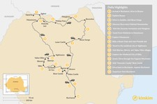 Map thumbnail of Nature and Culture in Romania: 15 Days self-guided