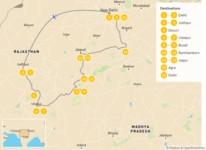 Map thumbnail of Discover Rajasthan: Temples, Tigers, & Taj Mahal - 16 Days