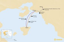 Map thumbnail of How to Get from Athens to Aegina