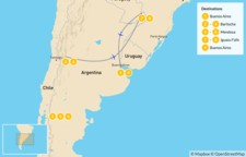 Map thumbnail of Classic Argentina: Patagonia, Mendoza, & Iguazú - 10 Days