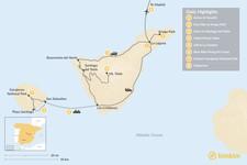 Map thumbnail of Wild Canary Islands Road Trip: Tenerife, La Gomera & Madrid - 8 Days