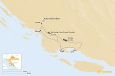 Map thumbnail of How to Get from Krka National Park to Trogir