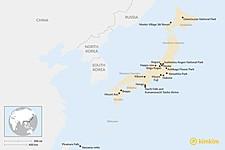 Map thumbnail of Japan's Top Natural Highlights