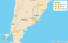 Map thumbnail of Buenos Aires, Bariloche, & Iguazú falls - 11 Days