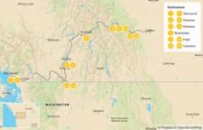 Map thumbnail of Vancouver to Calgary Road Trip: Okanagan Valley & Canadian Rockies - 13 Days