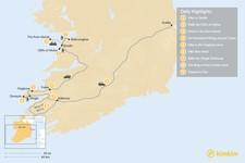 Map thumbnail of Hiking Ireland's Wild Atlantic Coast - 9 Days