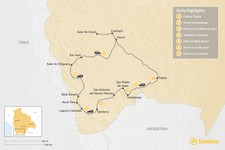 Map thumbnail of Tupiza to Uyuni: Best Off-The-Beaten Path Adventure - 7-Day Itinerary