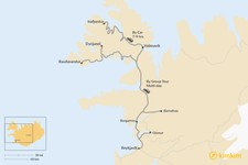 Map thumbnail of How to Get from Reykjavik to Westfjords