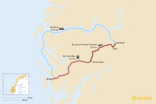 Map thumbnail of How to Get from Bergen to Aurland