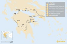 Map thumbnail of Mainland Greece Road Trip - 7 Days