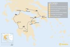 Map thumbnail of Mainland Greece Road Trip - 7 Days