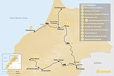 Map thumbnail of Morocco Grand Tour: Casablanca to Marrakech - 12 Days