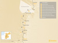 Map thumbnail of Dana to Petra Trek - 9 Days
