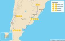 Map thumbnail of Buenos Aires, Iguazú Falls, Mendoza, & Bariloche - 14 Days