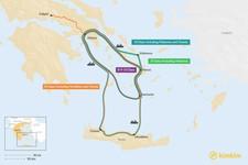 Map thumbnail of Athens, Naxos, & Santorini: Best Itinerary Ideas