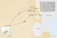 Map thumbnail of South Africa Safari: Kruger National Park - 5 Days