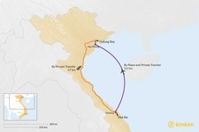 Map thumbnail of How to Get from Hoi An to Halong Bay
