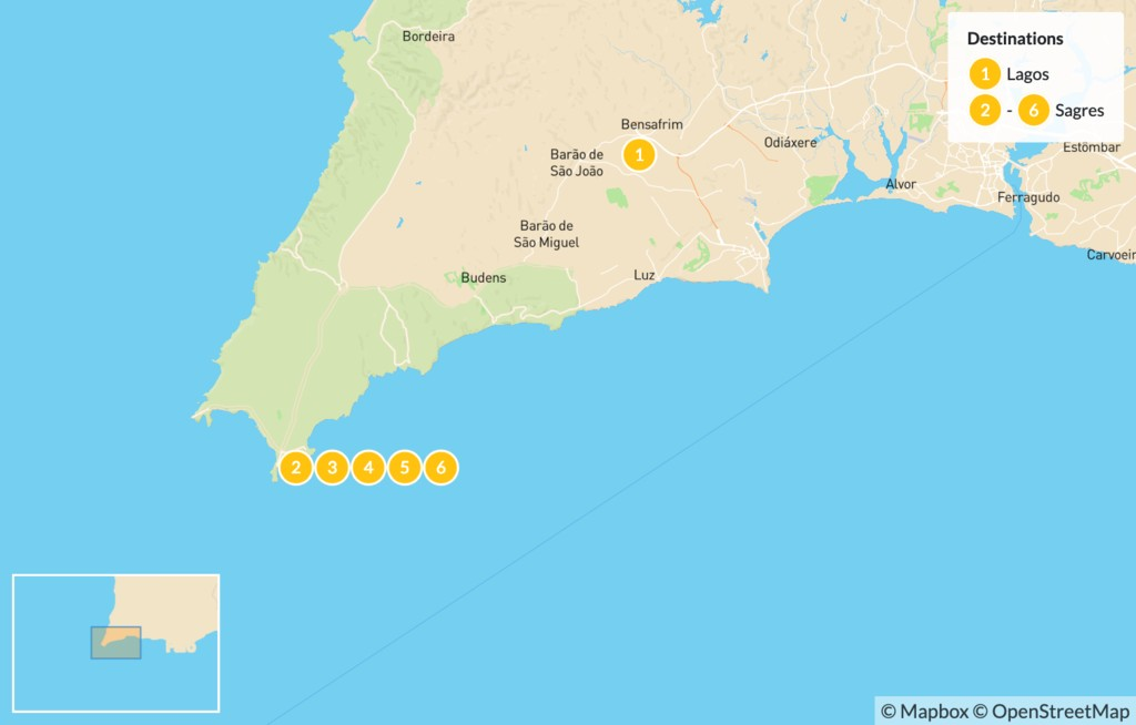 Map of Adventure in the Algarve - 7 Days