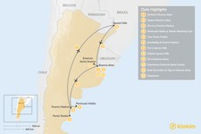 Map thumbnail of Argentina Wildlife & Natural Highlights - 12 Days