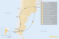 Map thumbnail of Discover Patagonia: Buenos Aires, El Calafate, El Chaltén, & Bariloche  - 13 Days