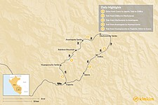 Map thumbnail of The Ausangate Lodge-to-Lodge Trek