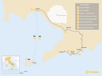 Map thumbnail of Adventures in Southern Italy - 7 Days