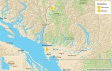 Map thumbnail of Sea-to-Sky Highway: Vancouver to Whistler - 3 Days