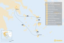 Map thumbnail of Relaxed Athens, Santorini, Naxos & Mykonos - 12 Days