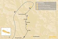 Map thumbnail of Luxury Everest Heli Trek - 4 Days