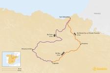 Map thumbnail of How to Get from San Sebastian to La Rioja