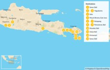 Map thumbnail of Temples and Trekking from East Java to Bali - 14 Days