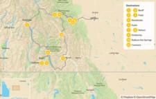 Map thumbnail of Kootenay Rockies: Hot Springs Circle Route - 12 Days