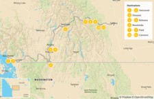 Map thumbnail of Vancouver to Calgary Road Trip: Okanagan Valley & Canadian Rockies - 12 Days