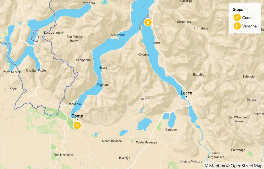 Map of Exploring The Villages of Lake Como - 6 Days