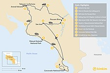 Map thumbnail of Costa Rica Luxury & Nature Tour - 10 Days