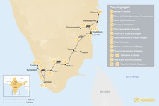 Map thumbnail of South India Odyssey - 15 Days