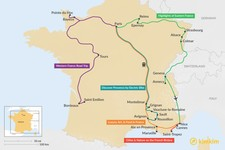 Map thumbnail of 12 Days in France - 7 Unique Itinerary Ideas