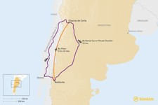 Map thumbnail of How to Get from Bariloche to Chacras de Coria