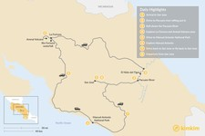 Map thumbnail of Costa Rica Adventure: Whitewater, Beaches & Volcanos - 8 Days