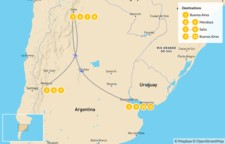 Map thumbnail of Classic Argentina: Buenos Aires, Mendoza, & Salta - 12 Days
