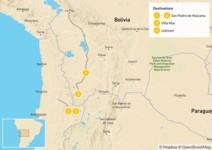 Map thumbnail of Discover the Atacama Desert & the Uyuni Salt Flats - 5 Days