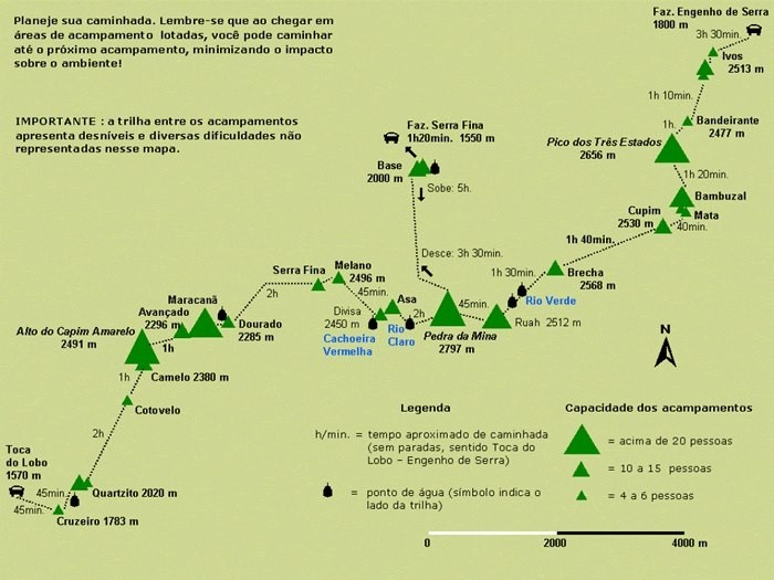 Map of Trekking Brazil's Serra Fina Crossing - 5 Days