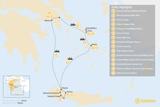Map thumbnail of Active Athens, Tinos, Naxos, and Crete - 15 Days