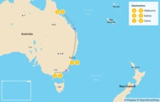 Map thumbnail of Best of Melbourne, Sydney, & Cairns - 7 Days