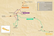 Map thumbnail of Best of the Kathmandu Valley in 2 Days