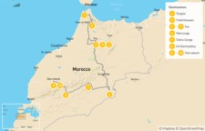 Map thumbnail of Grand Morocco Tour: North to South - 11 Days
